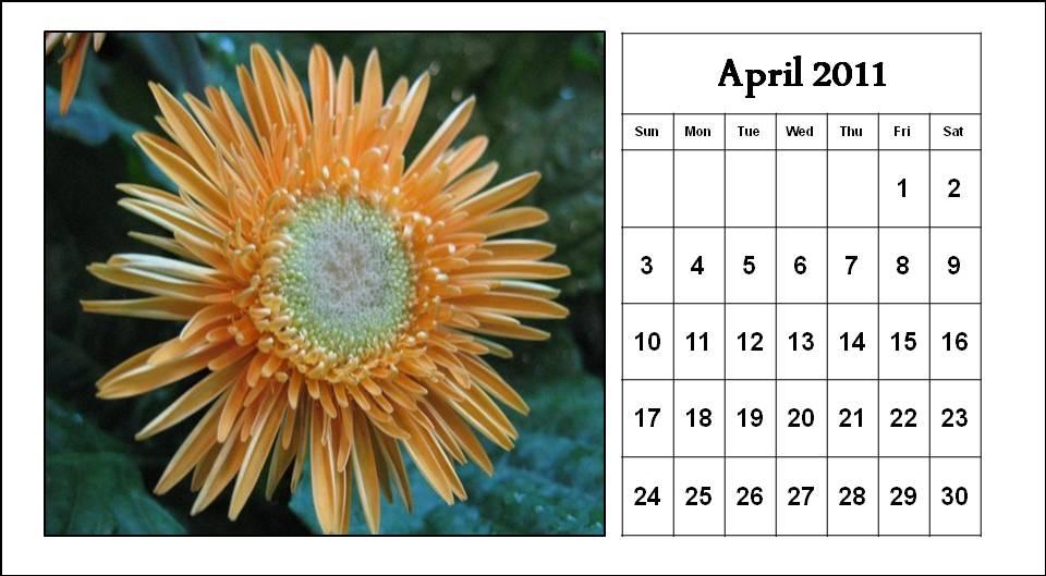 calendar april 2011 template. calendar template. april