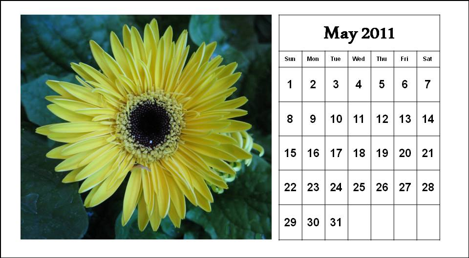 may 2011 calendar images