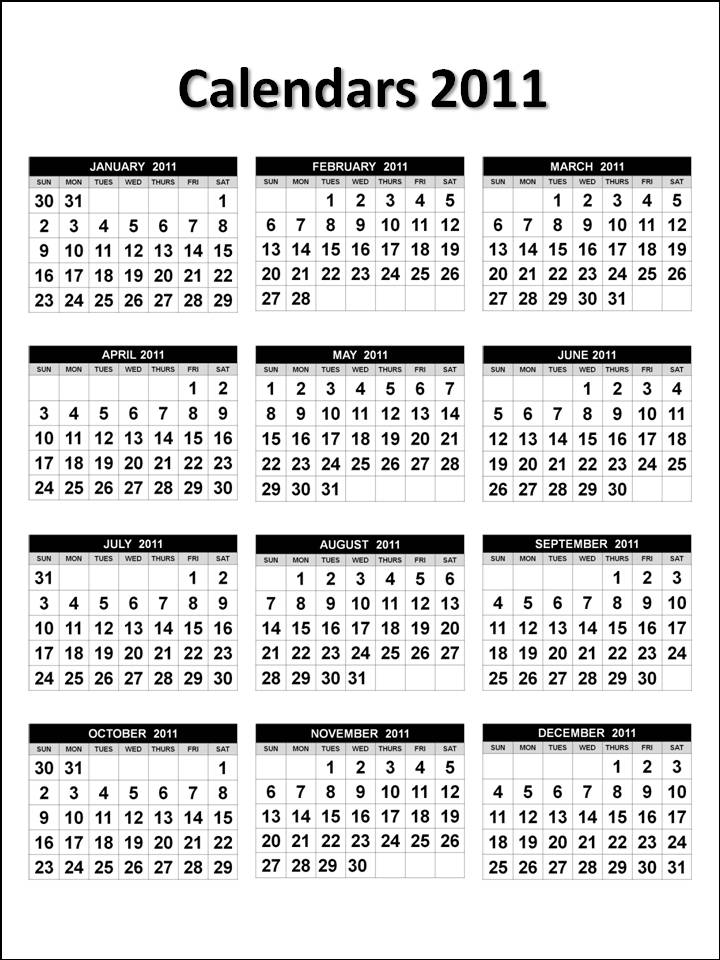 2011 Calendar : Easy-to-Use Free 2011 Calendar