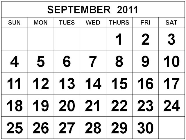 calendar september 2011. september 2011 calendar