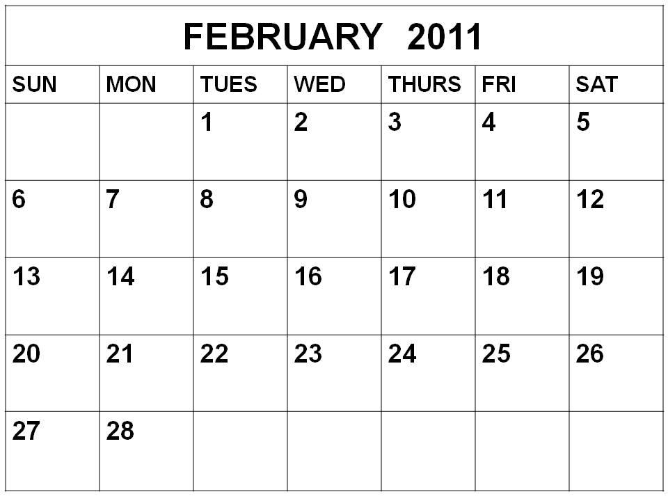 February 2011 Calendar 400x300. Tagged with: 2011 February Calendar .