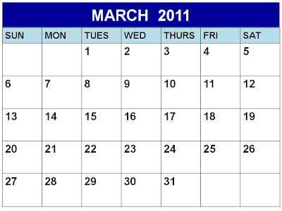 3 Ring Calendar Template
