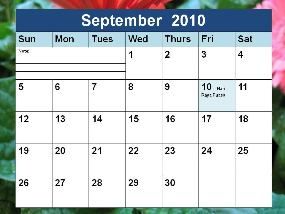 arts arts  september calendar 2011 with holidays