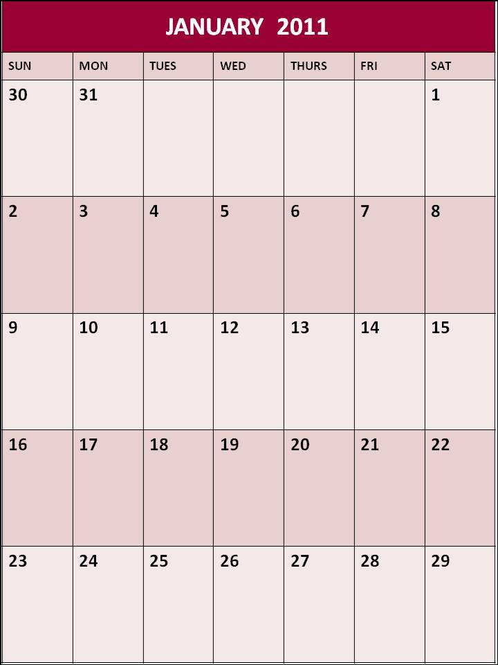 2011 + calendar +year+ 2011 +ad+ printable +calendars | Motley Health