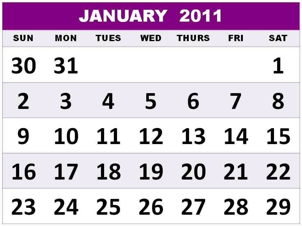 calendar template 2011 excel. excel calendar template 2011.