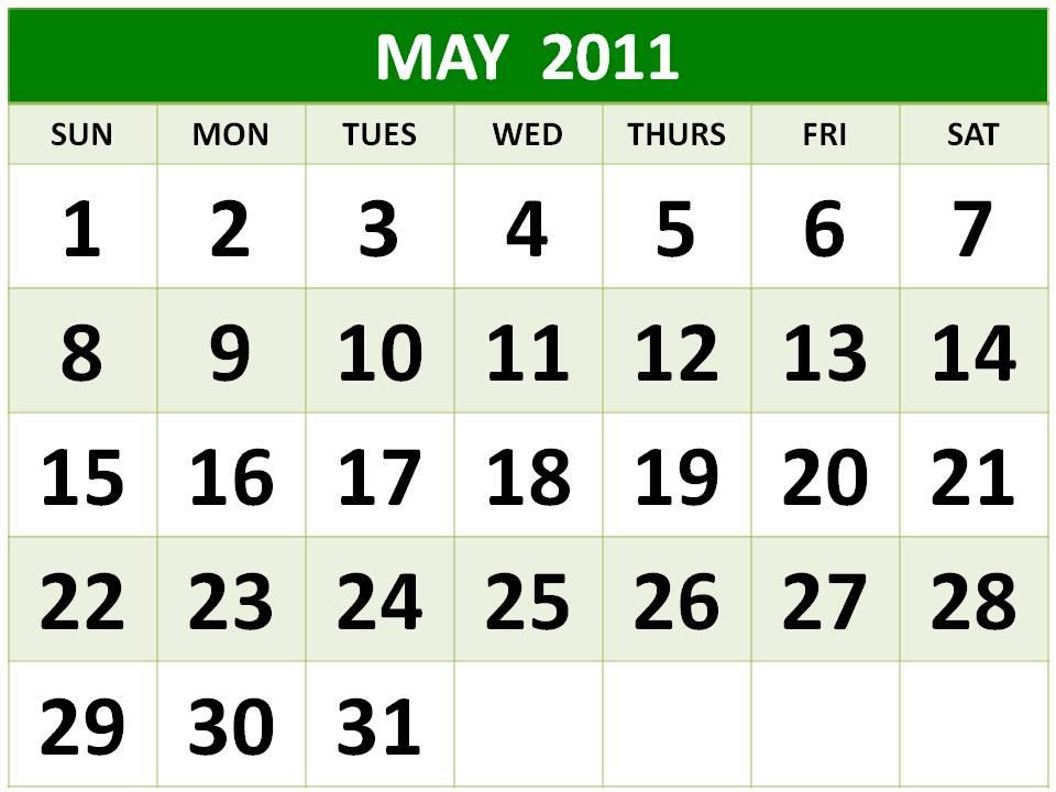 may 2011 calendar printable free. letterhead, Free
