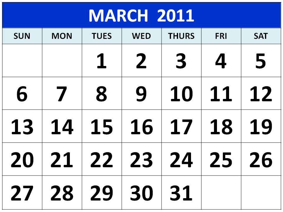 march and april calendars. 2011 Calendar March April May