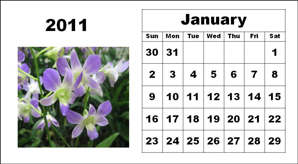 free yearly calendar 2011 template. yearly calendar template