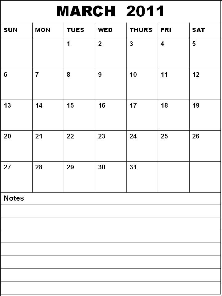 calendar template march 2011. CALENDAR TEMPLATE MARCH 2011