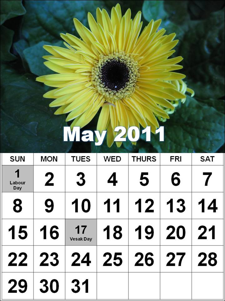 may 2011 calendar with holidays. may calendar 2011 with