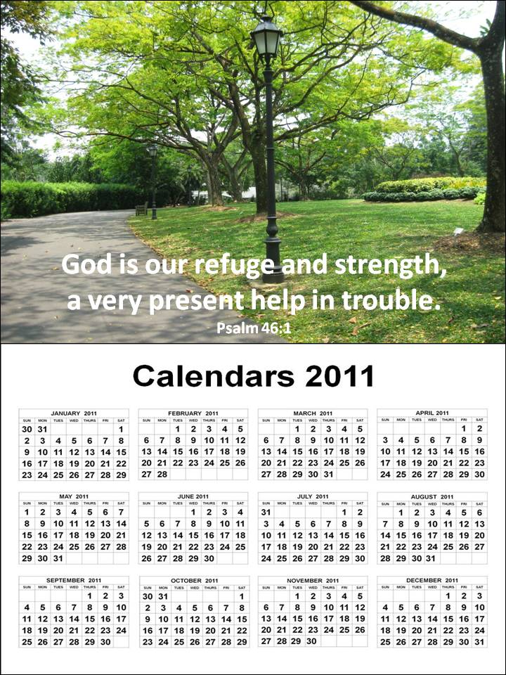 To download and print these Free Big A4 Calendar 2011 January to December