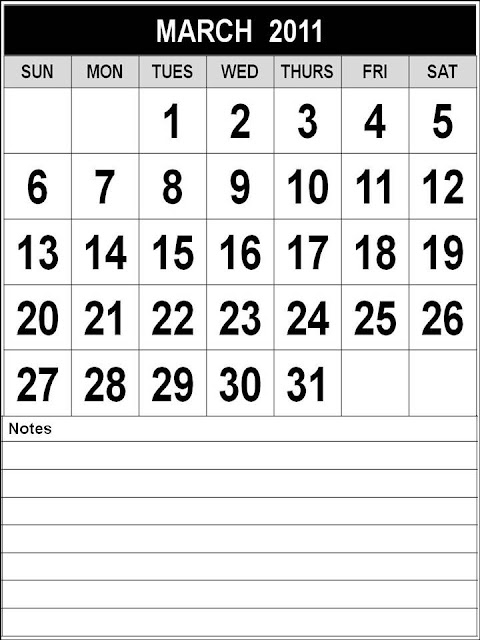 printable calendars for march 2011. printable monthly calendars