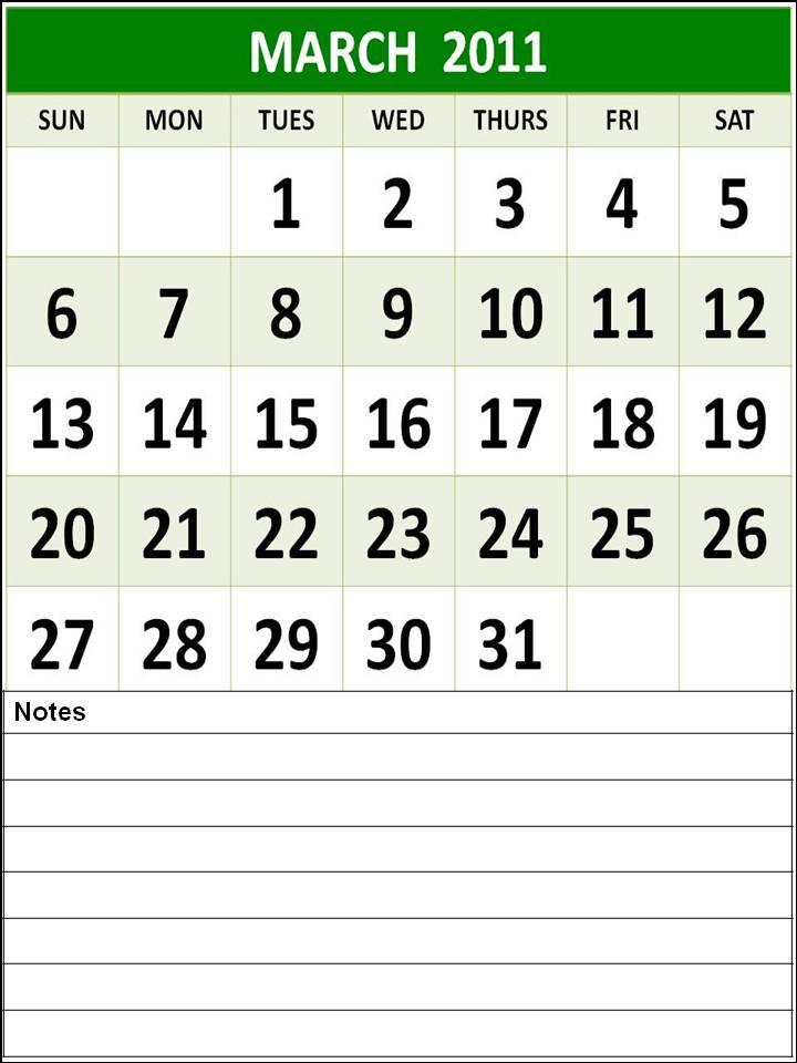 printable calendar 2011 canada. Homemade Printable Calendar