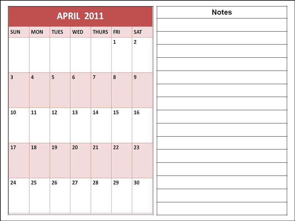 april 2011 printable calendar. CALENDAR 2011 PRINTABLE APRIL