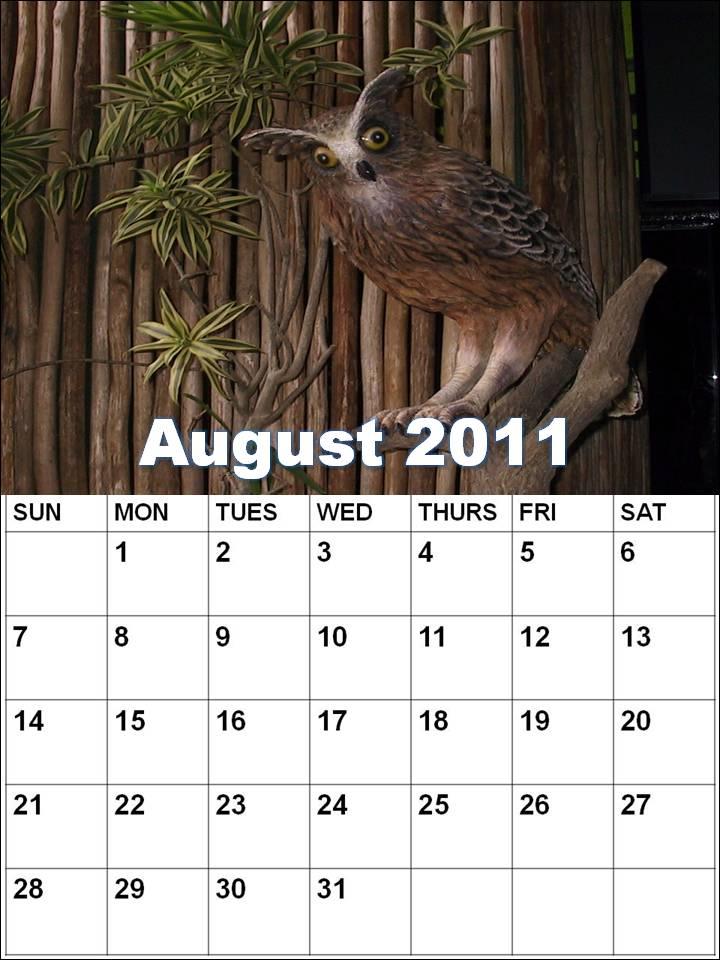 july august calendar 2011. july and august calendar 2011.