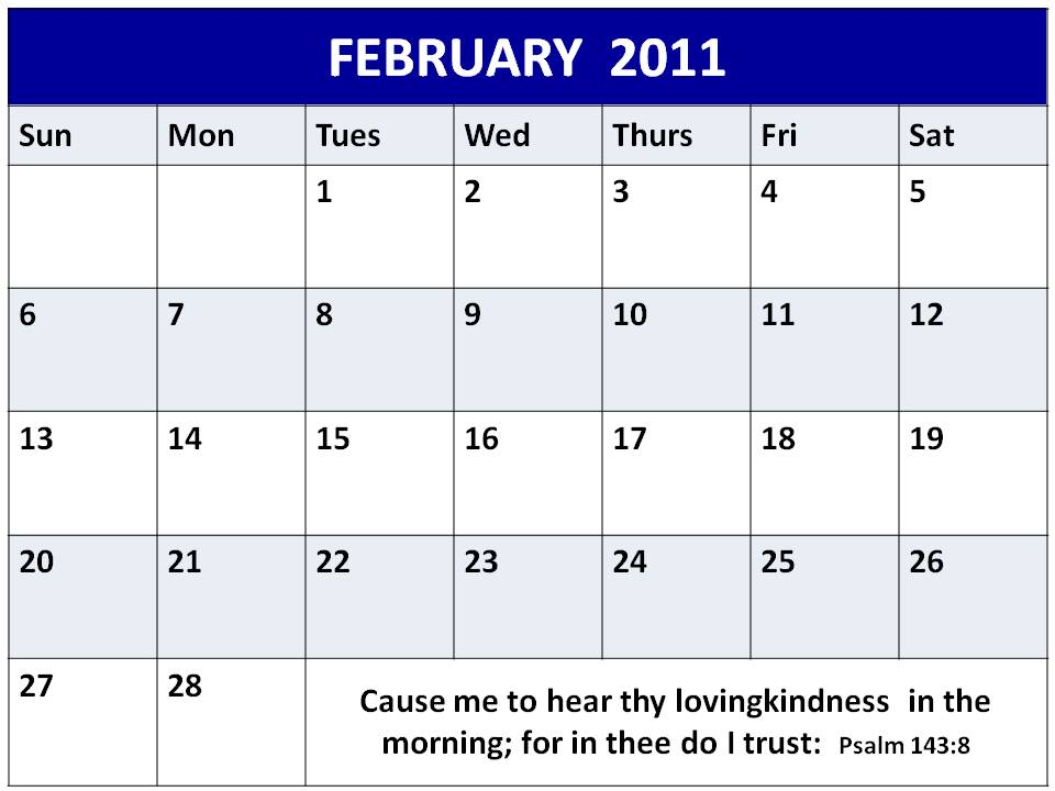 quotes for february. printable 2011 calendar plain