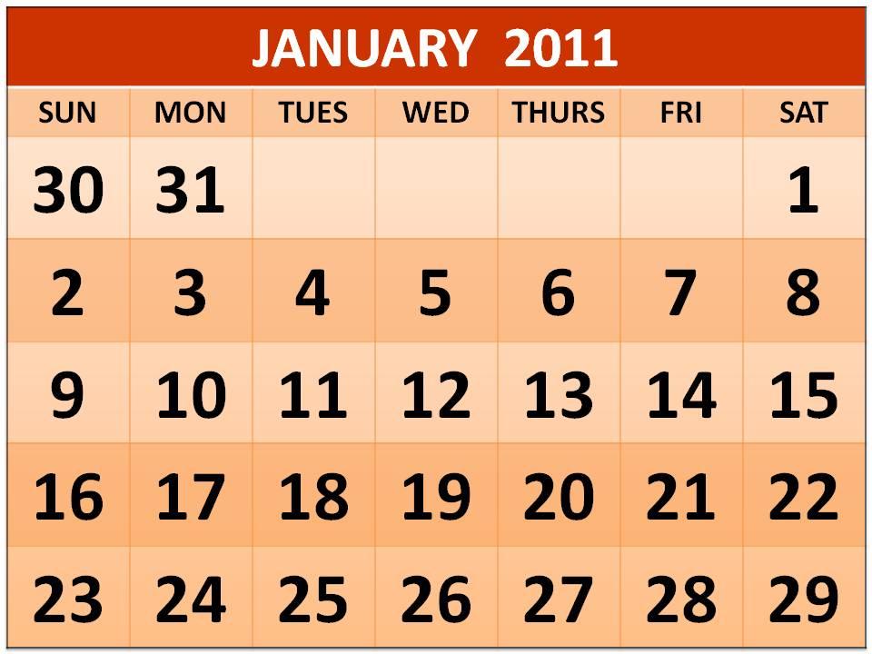 calendar january 2010. January 2010 Printable