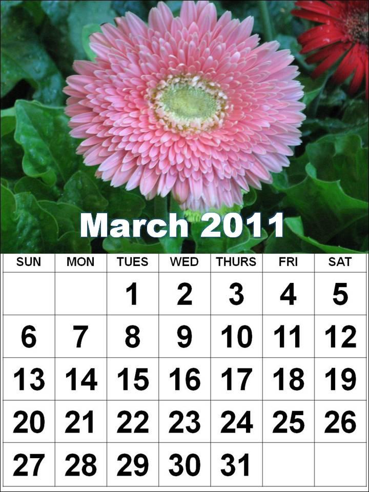 blank calendar template 2011. lank calendar template march