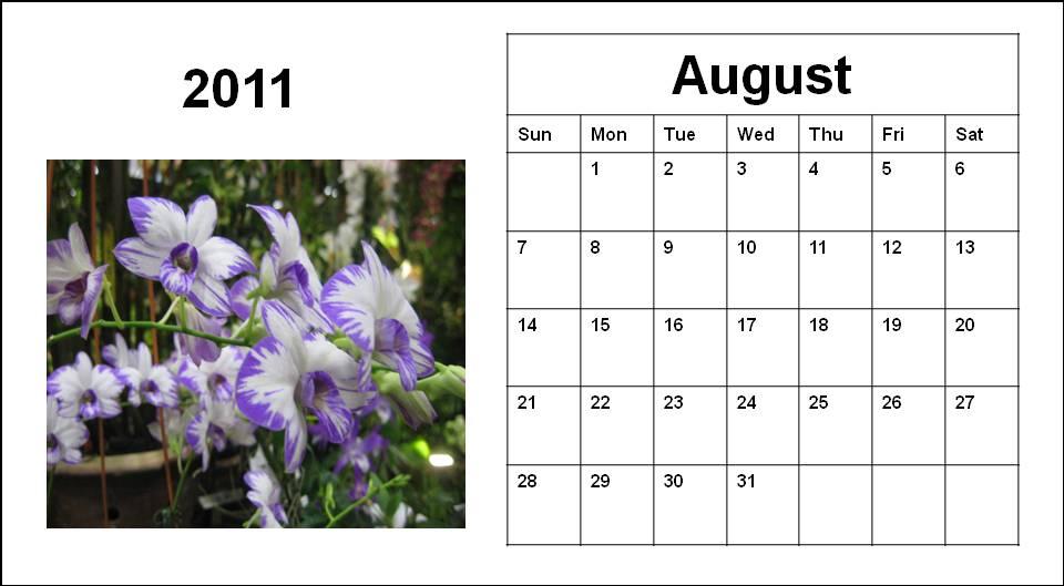 august calendar for 2011. blank august calendar 2011.