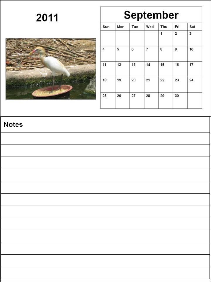 blank september 2011 calendar. Blank Calendar 2011 September