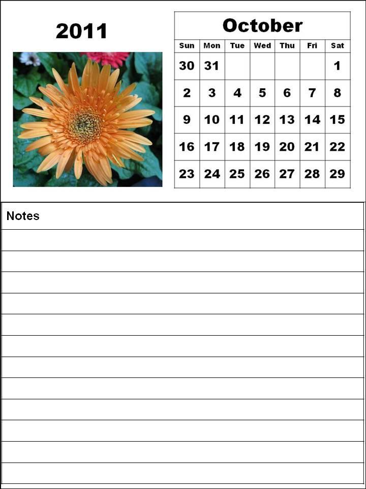 october 2011 calendar. October 2011 calendar