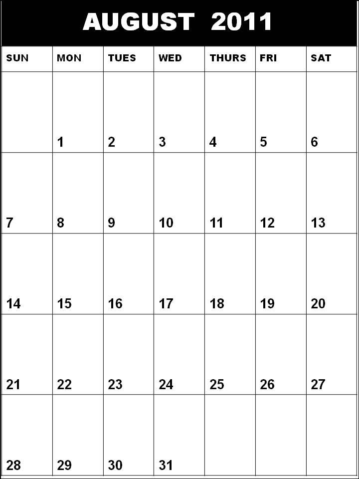 calendars 2011 august. Free printable Planner 2011