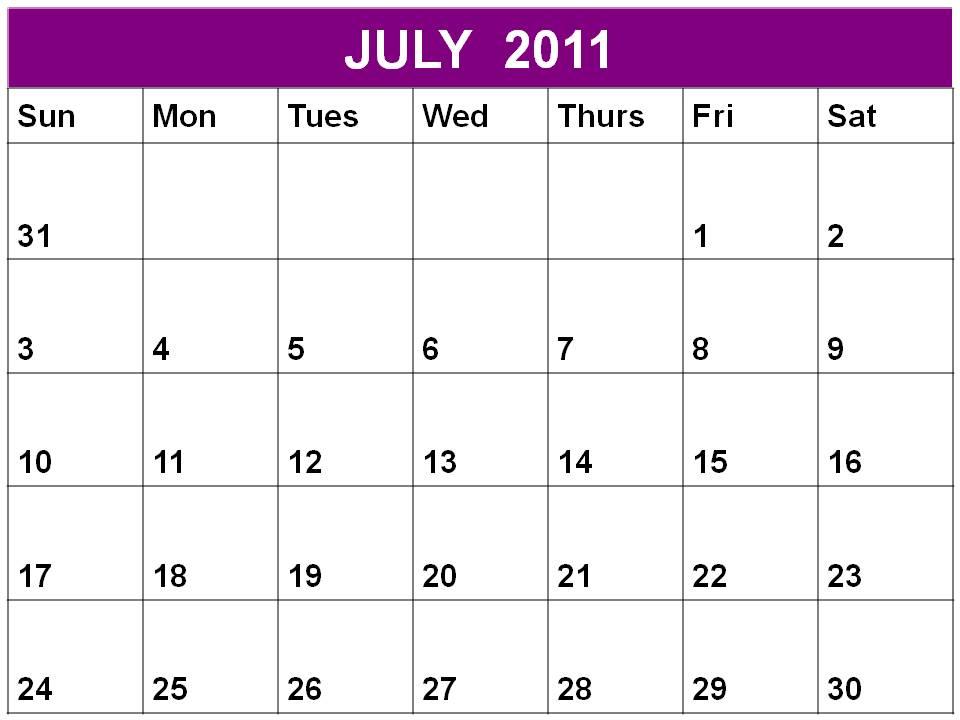 Printable calendar of july 2000 9jasports