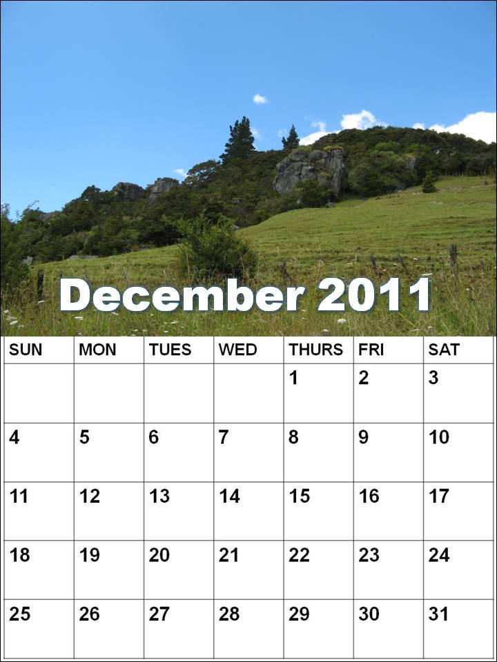 blank calendars to print. Blank Calendar December 2011