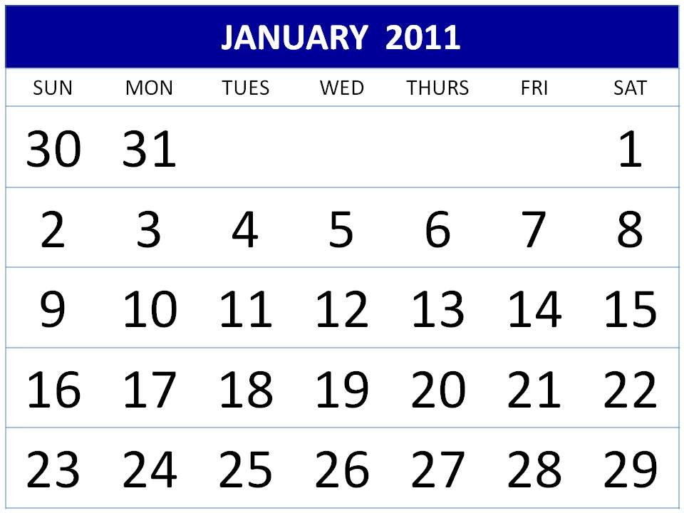 2011 calendar template. monthly calendar template 2011
