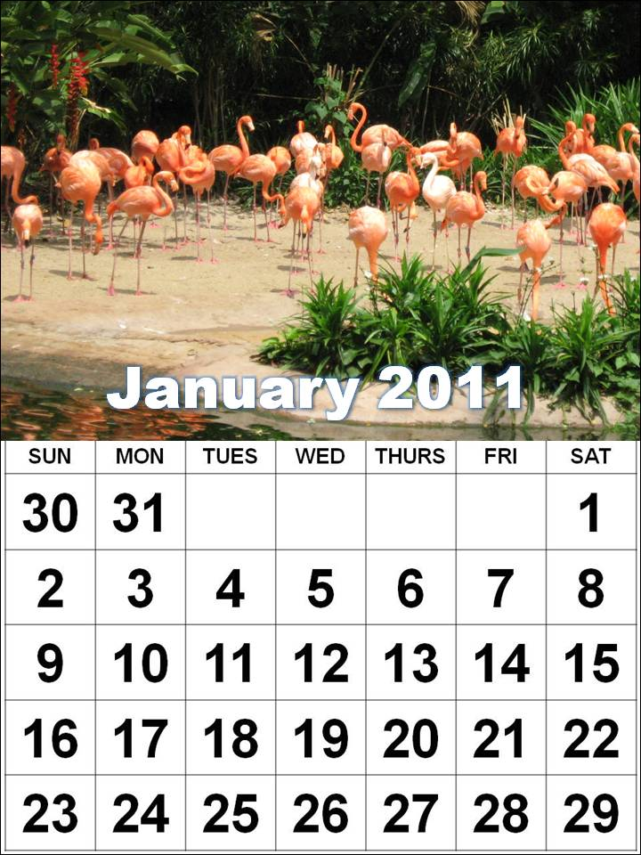 2011 calendar printable one page. Print out one or more of these