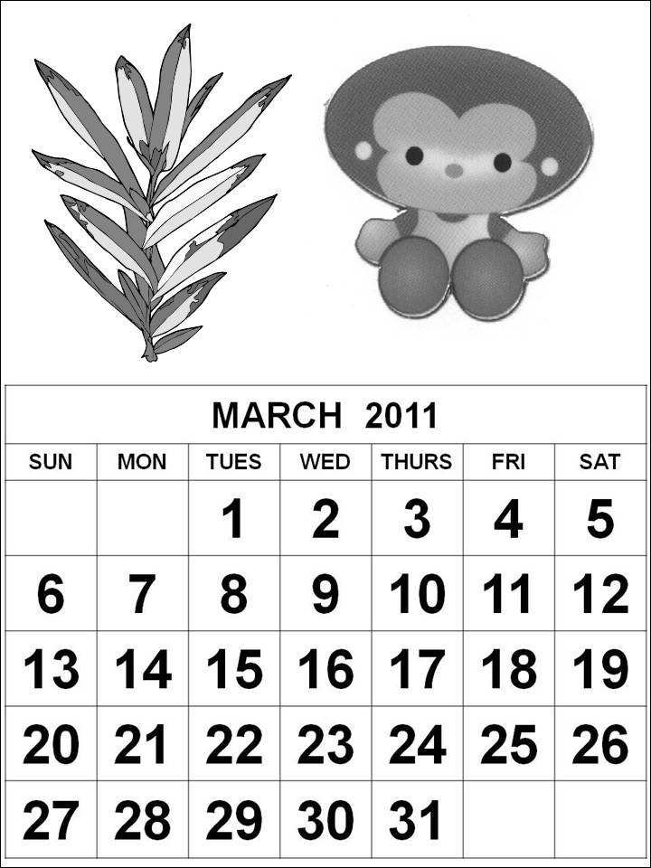 Printable 2011 calendar templates - index.html. General blue printable one