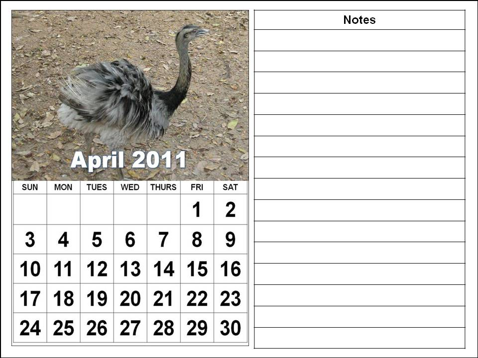 blank calendars april 2011. lank calendar printables for