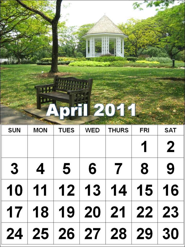 2011 Calendar By Month. calendar wordsingle month