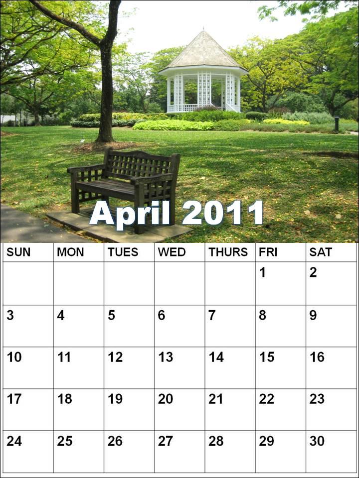blank calendars april 2011. lank february calendar The