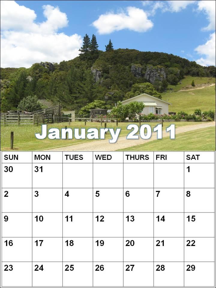 blank calendar 2011 australia. Blank Calendar 2011 January or