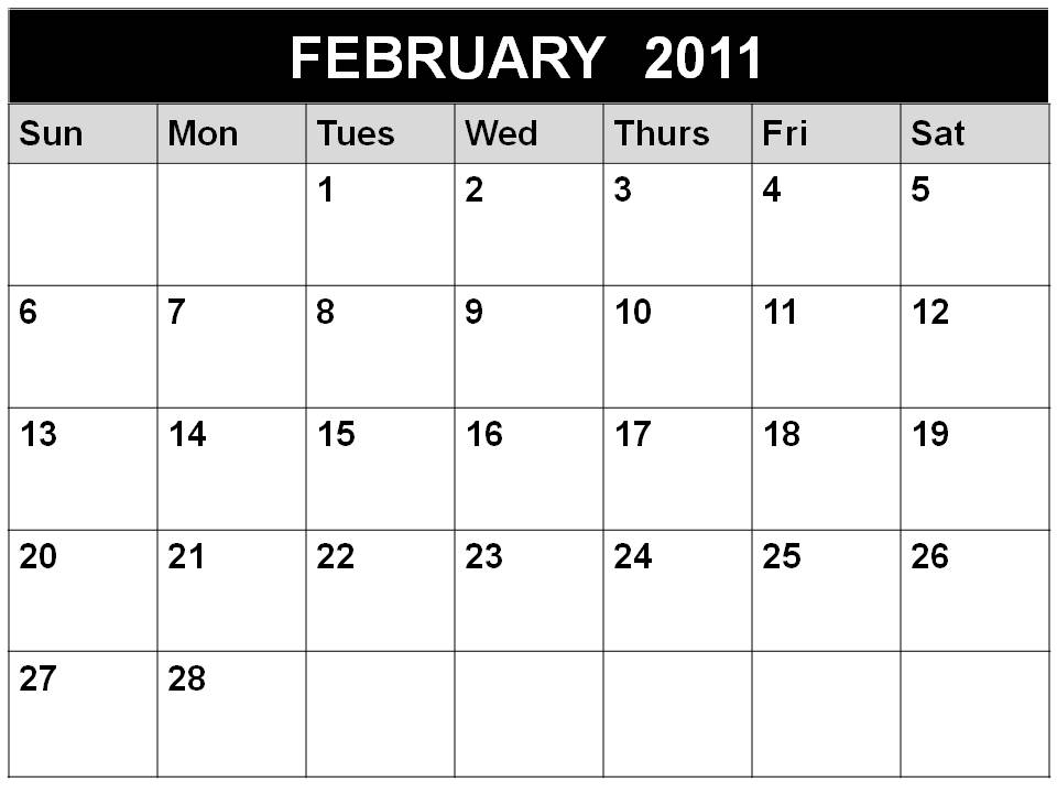 february 2011 calendar canada. FEBRUARY 2011 CALENDAR CANADA