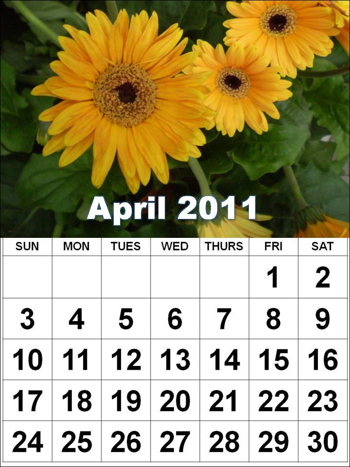 calendar april 2011 with holidays. Calendar+april+2011+