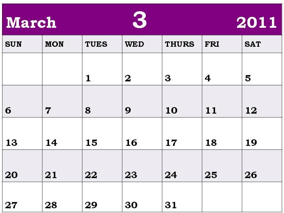 march calendar 2011 holidays. march calendar of holidays