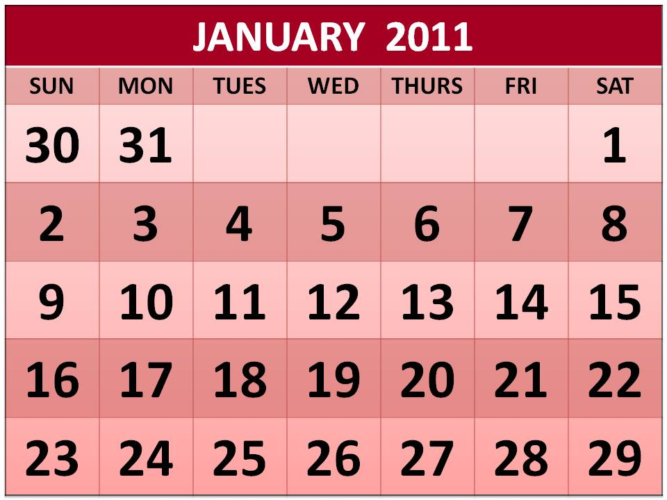 1 page yearly calendar 2011. one-page yearly calendars