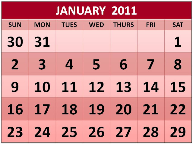 January Pictures For A Calendar 2011. Wall calendar for jan with the