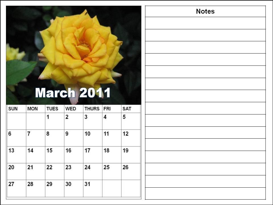 blank calendar march 2011. lank calendar march 2011