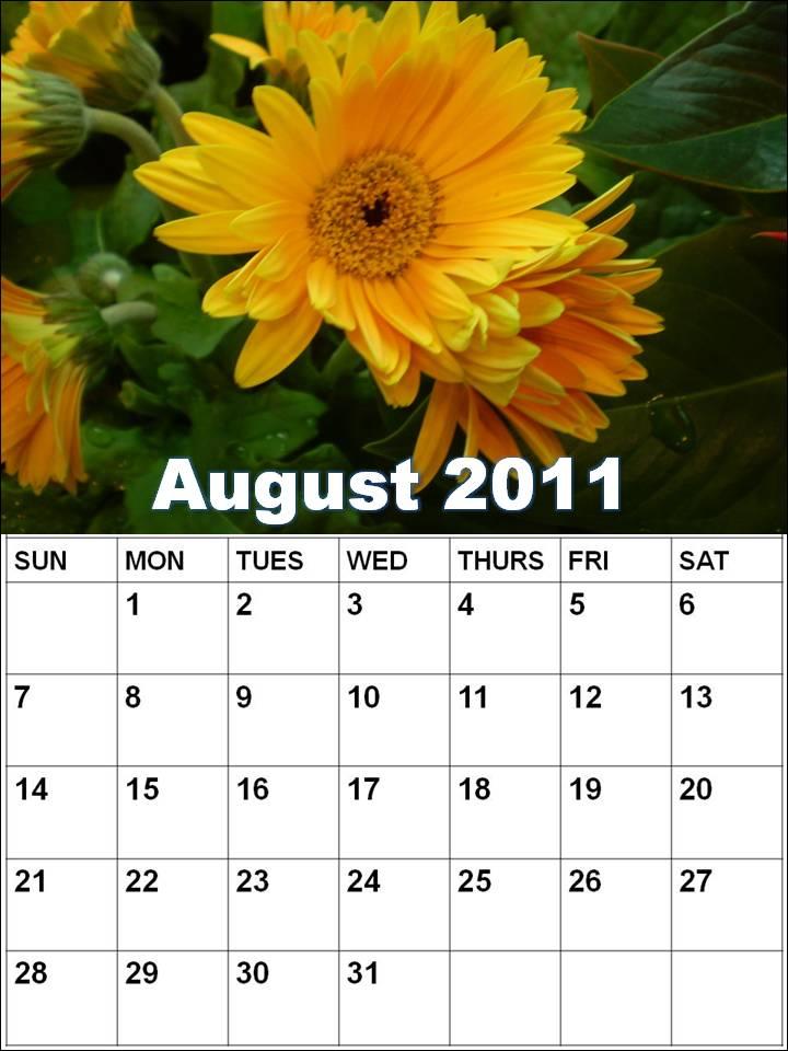 blank august calendar 2011. hair Blank Calendar 2011 July