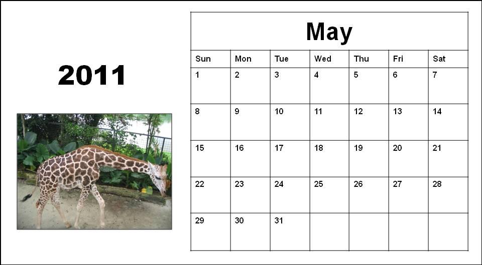 2011 calendar printable may. 2011 calendar printable