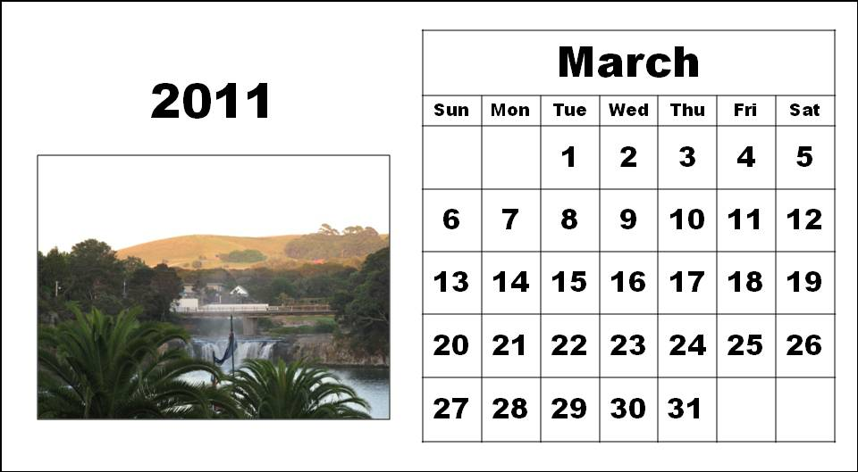 daily calendar template 2011. 2011 calendar template march. monthly calendar march 2011.
