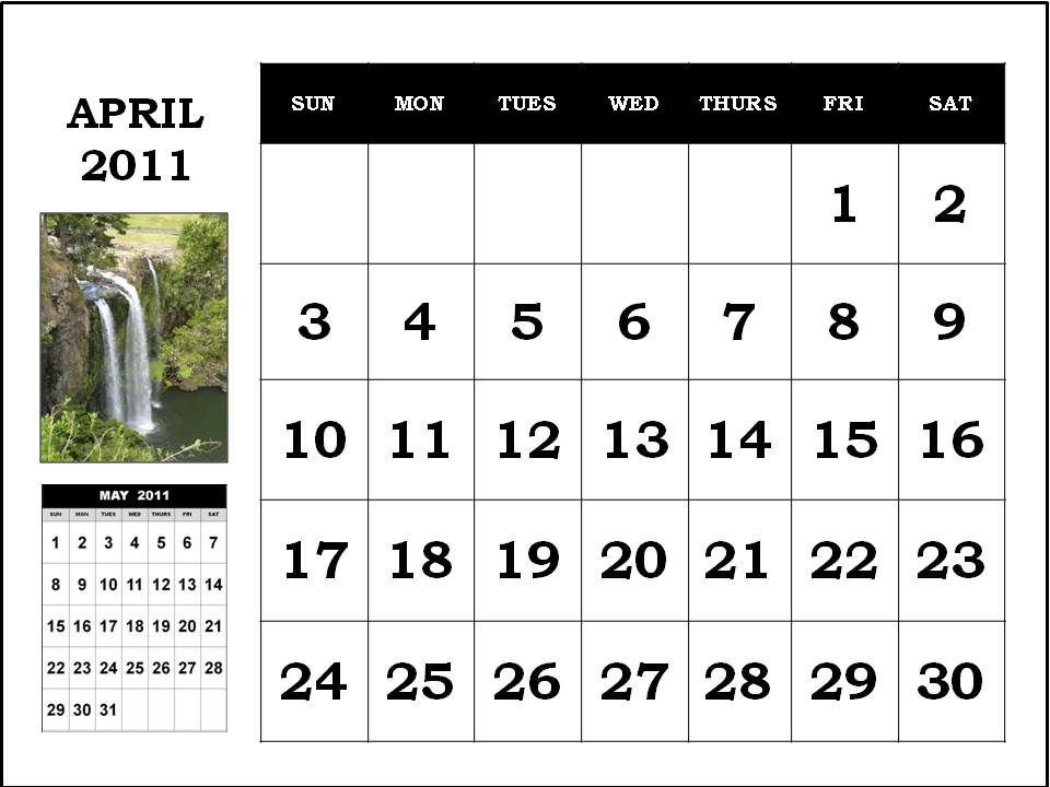 april 2011 calendar wallpaper. free april 2011 calendar