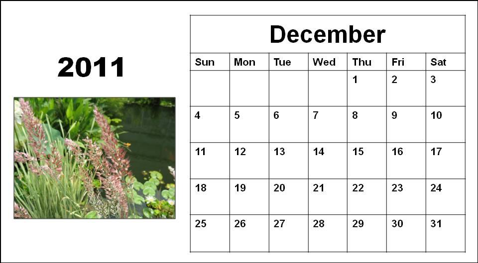 blank calendar 2011 australia. Blank Calendar 2011 December