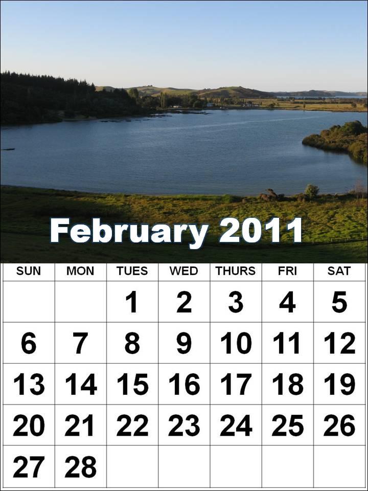 2011 calendar nz. US February 2011 Calendar