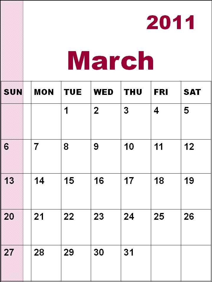 calendar 2011 march template. Blank+calendars+2011+march