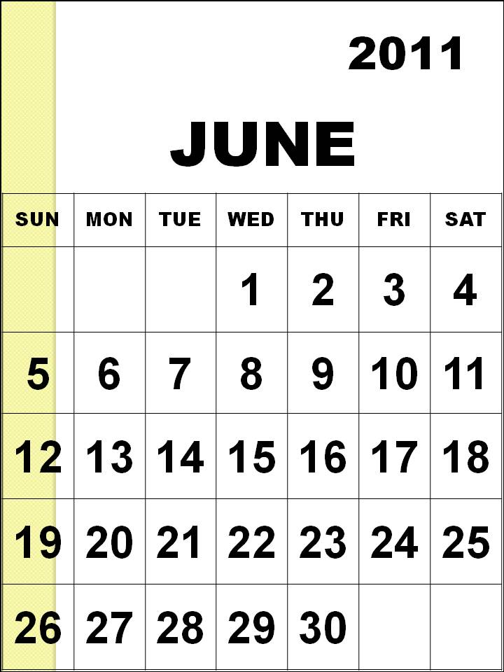 june 2011 calendar printable. june 2011 calendar page.
