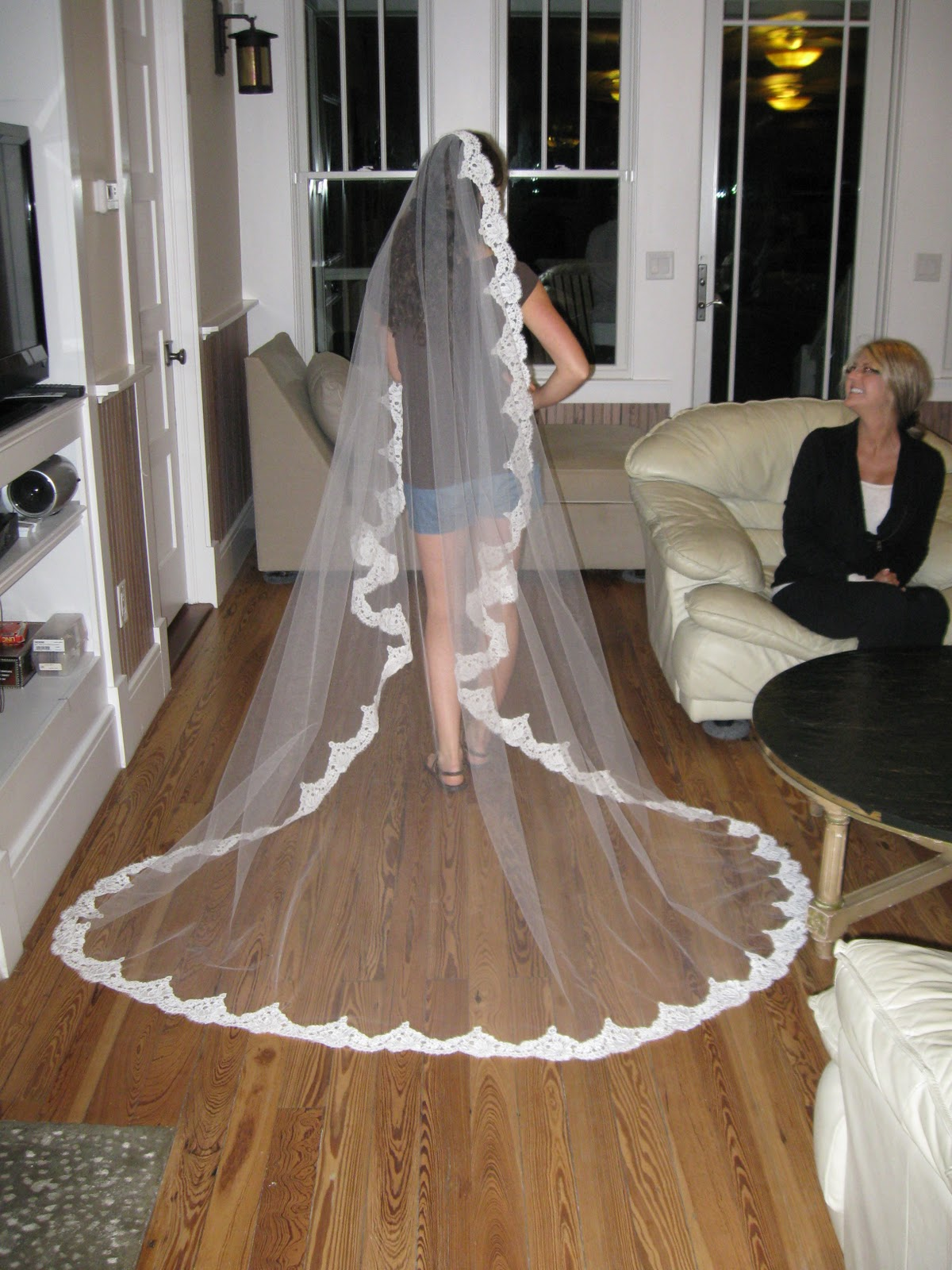 Tulle We Had Created A Masterpiecefor 85 DOLLARS Including Lace Combs And Clear Thread Seven Hours Of Sisterly Love Bonding Time